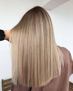 Golden Blonde Balayage for Straight Hair - Honey Blonde Hair Inspiration - The Trending Hairstyle Ombre Hair Color, Hair Color Balayage, Brunette Color, Hair Colors, Blonde Balayage Highlights, Full Highlights, Blonde Balayage Long Hair, Beige Hair Color, Blonde Color