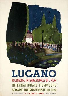 Lugano, Rassegna Internationales del Film, semaine internationale du film, 1945