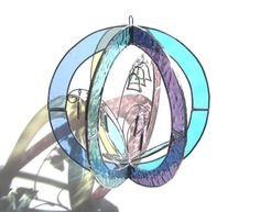 May Bells  Stained Glass 3D Sphere  Medium by katiediditglass, $78.00