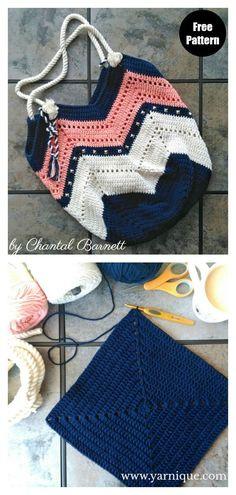 Crochet Handbags, Crochet Purses, Diy Crochet Purse, Crotchet Bags, Crochet Beach Bags, Free Crochet Bag, Knit Bag, Knitted Bags, Easy Knitting Projects