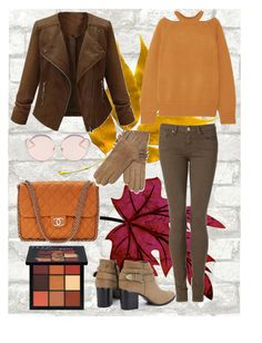 """""""Last 50 Shades of Fall"""" by mariannoi on Polyvore featuring Jason Wu, Tommy Hilfiger, N°21, Maison Fabre, Huda Beauty, Chanel, orange, brown, pumpkin and hudabeauty"""