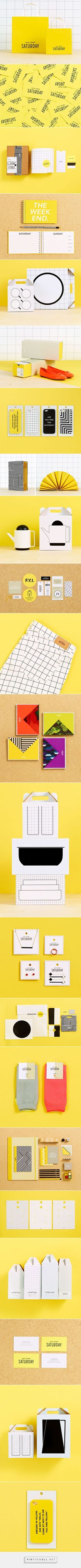 Kate Spade Saturday Packaging and Product on Behance. - a grouped images picture - Pin Them All Brand Identity Design, Graphic Design Branding, Corporate Design, Corporate Identity, Business Branding, Visual Identity, Typography Design, Lettering, Logo Design