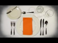 ▶ How to set the table - Anna Post - YouTube Culinary Classes, Culinary Arts, Cooking Classes, Anna, Dining Etiquette, Etiquette And Manners, Nutrition Classes, Nutrition Guide, Food Lab