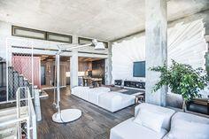 Warehouse apartment lounge room