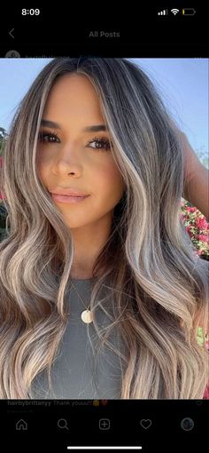 Brown Hair Balayage, Hair Color Balayage, Hair Highlights, Ombre Hair, Brunette To Blonde Highlights, Blonde Hair Looks, Brunette Hair, Brown Eyes Blonde Hair, Hair Color And Cut