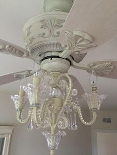 Amazon.com: Crystal Bead Candelabra Antique White Ceiling Fan Light Kit: Home Improvement