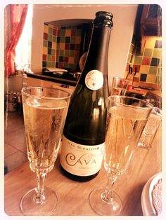 Cava.. When in Spain, drink Cava. Drink Cava whenever actually ! :) delicious sirine, aurelie