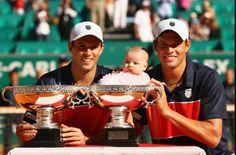 Mike and Bob Bryan @ Monte-Carlo Rolex Masters 2012 w/ Micaela (Bob's daughter)