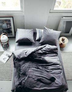woolf bedlinen, grey