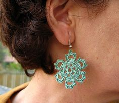 PDF Tutorial Crochet PatternDangle Earrings by accessoriesbynez, $2.75