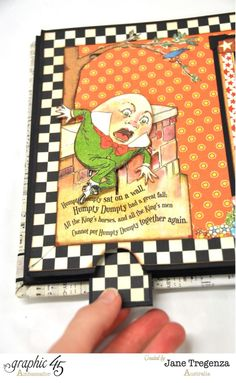 Humpty Dumpty pages of Jane's Mother Goose Mini album (view 3) #graphic45 - Wendy Schultz ~ Graphic 45 Projects.