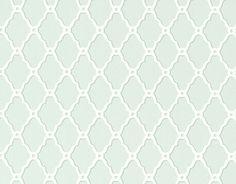 Rothbury Trellis Wallpaper An elegant geometric wallpaper with a trellis design in white on aqua.