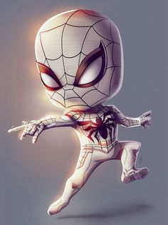 spiderman into the spider verse Chibi Marvel, Marvel Art, Marvel Heroes, Wallpaper Animé, Handy Wallpaper, Spiderman Spider, Amazing Spiderman, Spiderman Marvel, Chibi Characters