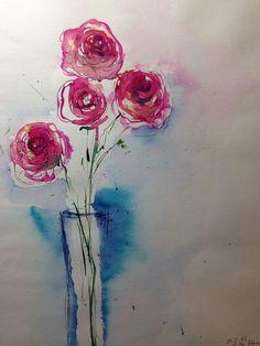 Bilschirmauflösung zu Farbabweichungen kommen kann. Maße: 30 x 40 cm. Aquarell, Tusche auf 200g/qm Papier. signiert und datiert auf der Vorderseite. verwendet werden ausschliesslich Künstlerfarben.   eBay!