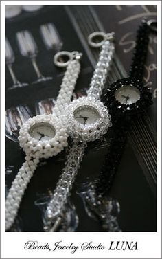 http://www.beadshop.com.br/?utm_source=pinterest&utm_medium=pint&partner=pin13 relogio miçangas beads watch