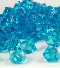 """Large 1"""" Turquoise Blue Acrylic Ice  46 ounces $14"""