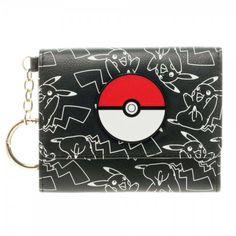Pokemon Poke Ball Pikachu Tri-Fold Wallet