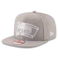 03d1128d4b80ac Men's San Antonio Spurs New Era Gray Team Refresher 9FIFTY Snapback Adjustable  Hat, Your Price