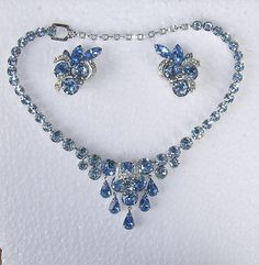 Vintage Eisenberg Blue Ice Necklace and by KathatKreations on Etsy, $189.95
