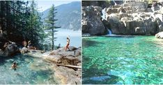This Stunning Waterfall And Swimming Hole In BC Is The Ultimate Summer Hangout Spot featured image Cruise Vacation, Vacation Spots, Vacation Ideas, Vacations, Weekend Trips, Weekend Getaways, Swimming Holes, Vancouver Island, Rocky Mountains