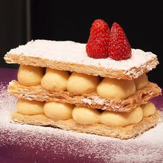 "Mille-feuille, meaning ""1000 leaves"" in French, millefoglie in Italian, vanilla slice in English is also known as – Napoleon?!"