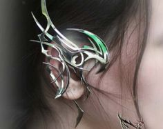 Ear Cuff Dragon Guardian Elf Ear Cuff jewelry art by ManikID