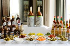 Make your own Bloody Mary/Caesar Bar - Today for Super Bowl