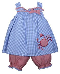 Zu girls crab swing top and short set Summer Set, Summer Girls, Beach Play, Alligators, Lobsters, Girls Dresses, Summer Dresses, Swing Top, Girls Wardrobe