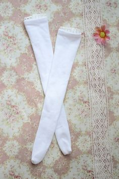 White stockings for doll 1/4 slim msd minifee by CandyDollShop