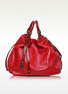 Francesco Biasia Angie Calf Leather Bucket Bag