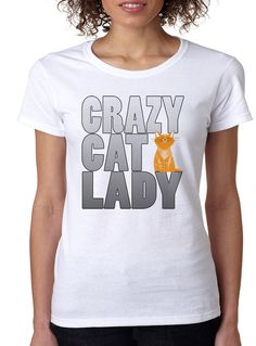 White Crazy Cat Lady Tee