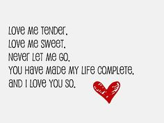 my valentine song text