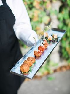 Fried mac and cheese balls for a wedding reception appetizer