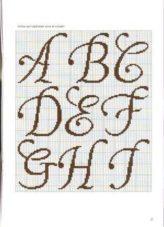 Schema Alfabeto Punto Croce Schemi Alfabeti Pinterest