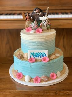 Moana Birthday Cake Im Still Obsessing Over My Hand intended for Moans Birthday Cake - Party Supplies Ideas Moana Theme Birthday, Moana Themed Party, Moana Party, Frozen Birthday, 4th Birthday, Birthday Ideas, Birthday Cake Writing, Bithday Cake, Types Of Cakes