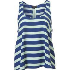 Stripe Vest ($60) ❤ liked on Polyvore featuring tops, shirts, tank tops, tanks, blusas, women, blue stripe shirt, blue striped shirt, striped vest and blue shirt
