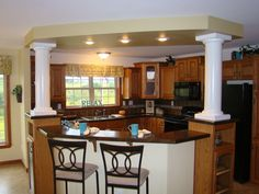 Washington Pennwest Ranch Modular Home Kitchen With A Great Island Area And Eat At Bar