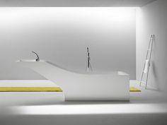 It's a bathtub - NO It's a sink.... Both! desnahemisfera fuses bathtub + washbasin in symbiosis unit, From Designboom