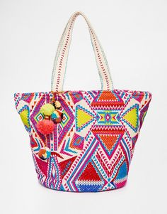 ASOS Geo-Tribal Beach Bag With Pom - Treat yourself to this roundup of new arrivals of vacation ready must haves.