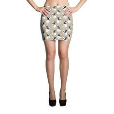 Single Hooded Brindle Pied Frenchie Mini Skirt