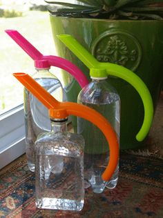 Eco Watering Spouts attach to your own plastic bottles to create instant watering cans. Available at Womanswork