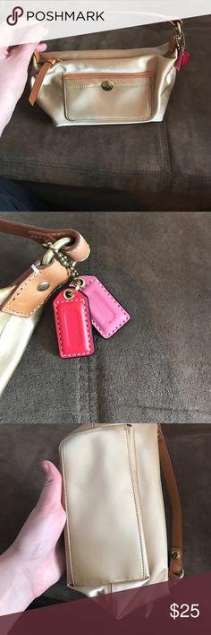 Coach mini bag Coach nylon mini bag. Some wear. Coach Bags Mini Bags