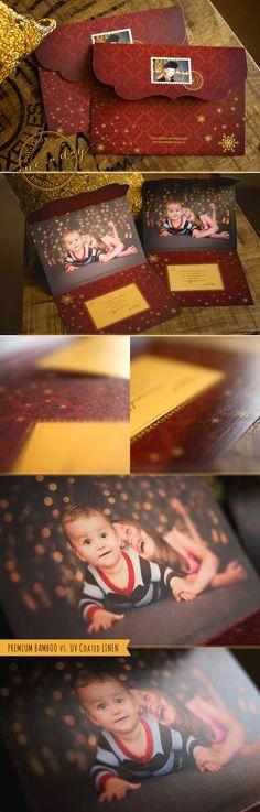 Christmas Joy 5x7 Luxe Card || Premium Bamboo vs. UV Coated Linen