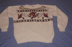Vintage 1970's - Alfred Dunner Festive Sweater XL by TheMercerStreetHouse on Etsy