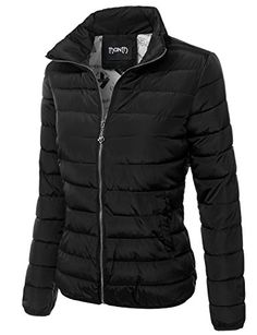 6fb19f1874f Thanth Womens Quilted Padded Lightweight Zip Up Puffer Jacket -comes in  over 40 colors. Karyn · Style · DKNY Puffer coat Black Parka