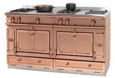 My dream copper stove/range from La Cornue, made and shipped from France, costs about $45,000! I won't hold my breath for this one. LOL!
