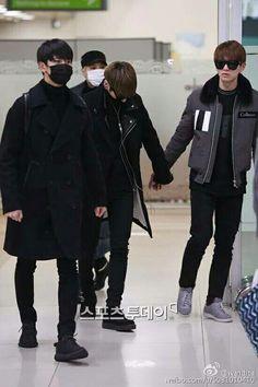 A su llegada al aeropuerto Gimpo en Corea