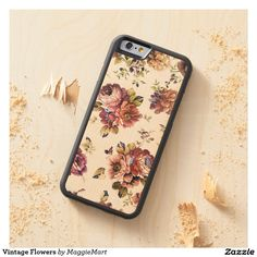Vintage Flowers Carved® Maple iPhone 6 Bumper Case