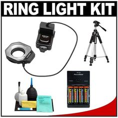 Bower SFD14C Digital Macro Close-Up Ring Flash + Tripod + Batteries & Charger + Accessory Kit for Canon EOS Rebel XT, XTi, XS, XSi, T1i, 50D, 40D, 5D Mark II, 7D Digital SLR Cameras - http://yourperfectcamera.com/bower-sfd14c-digital-macro-close-up-ring-flash-tripod-batteries-charger-accessory-kit-for-canon-eos-rebel-xt-xti-xs-xsi-t1i-50d-40d-5d-mark-ii-7d-digital-slr-cameras/