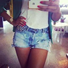 Cute jean shorts for summer